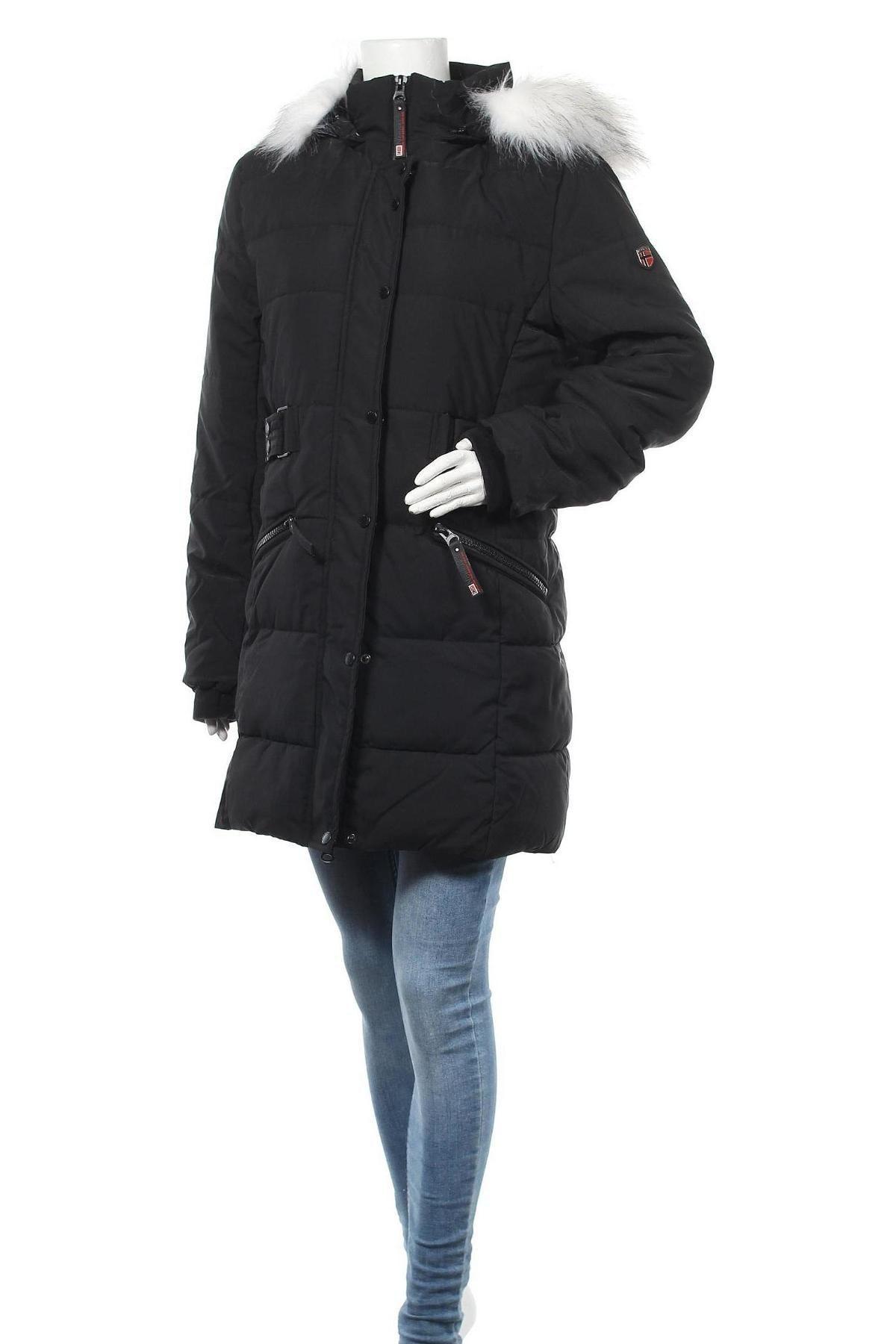 Дамско яке Geographical Norway, Размер M, Цвят Черен, Полиестер, Цена 108,57лв.