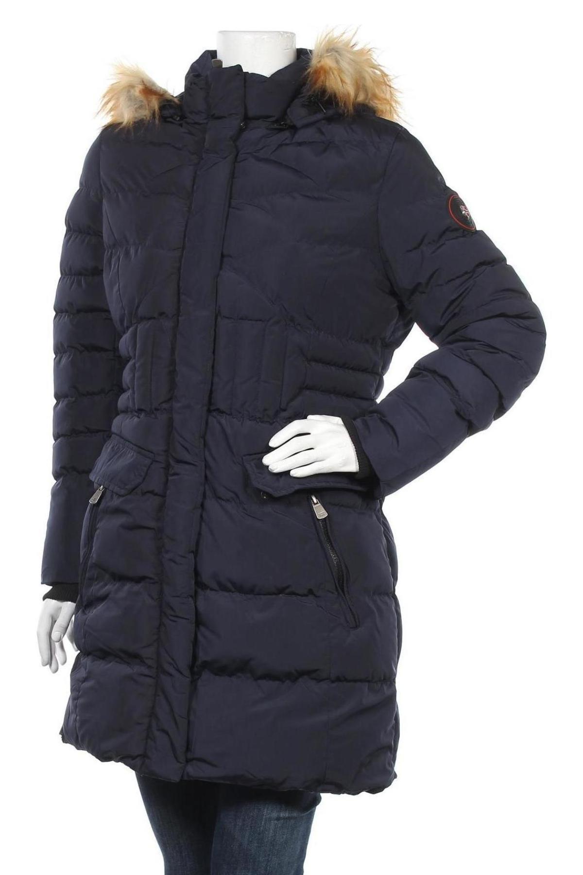 Дамско яке Geographical Norway, Размер M, Цвят Син, Полиестер, Цена 115,17лв.