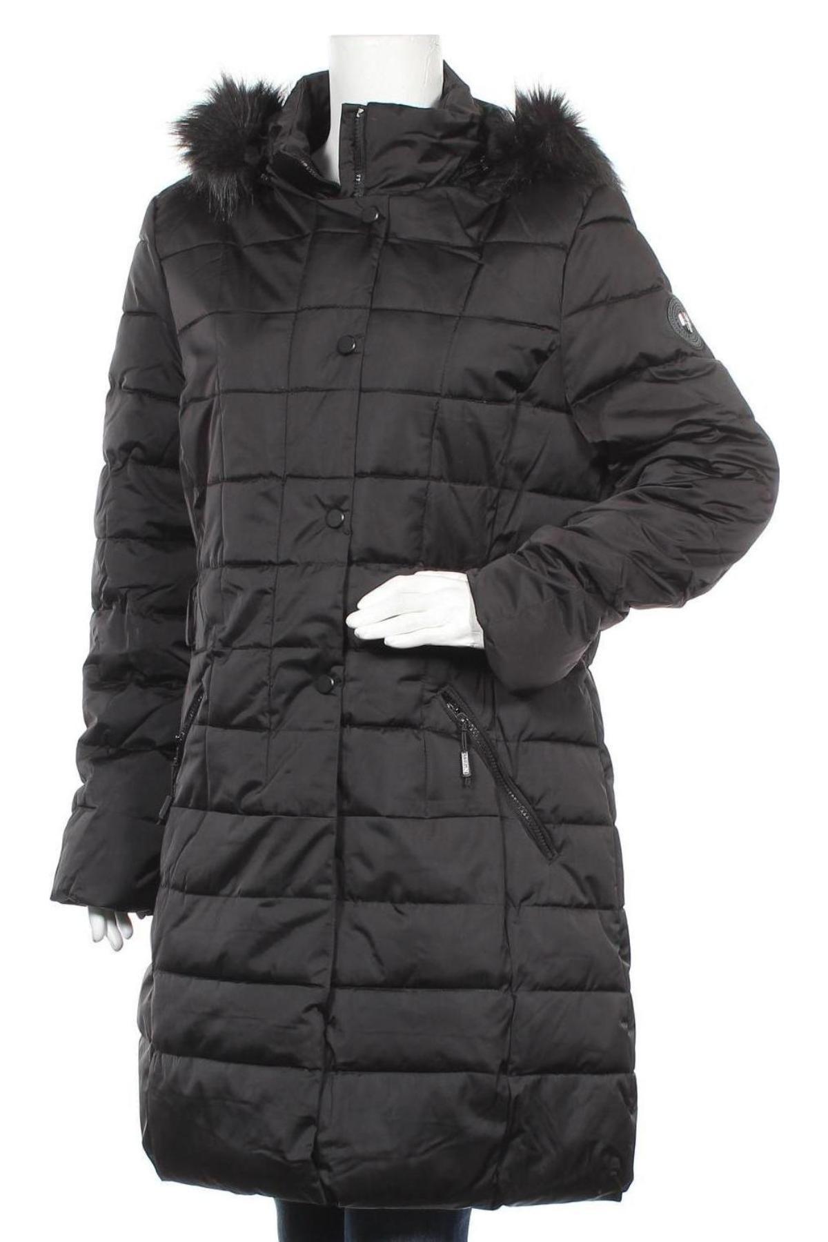 Дамско яке Geographical Norway, Размер XL, Цвят Черен, Полиестер, Цена 111,87лв.