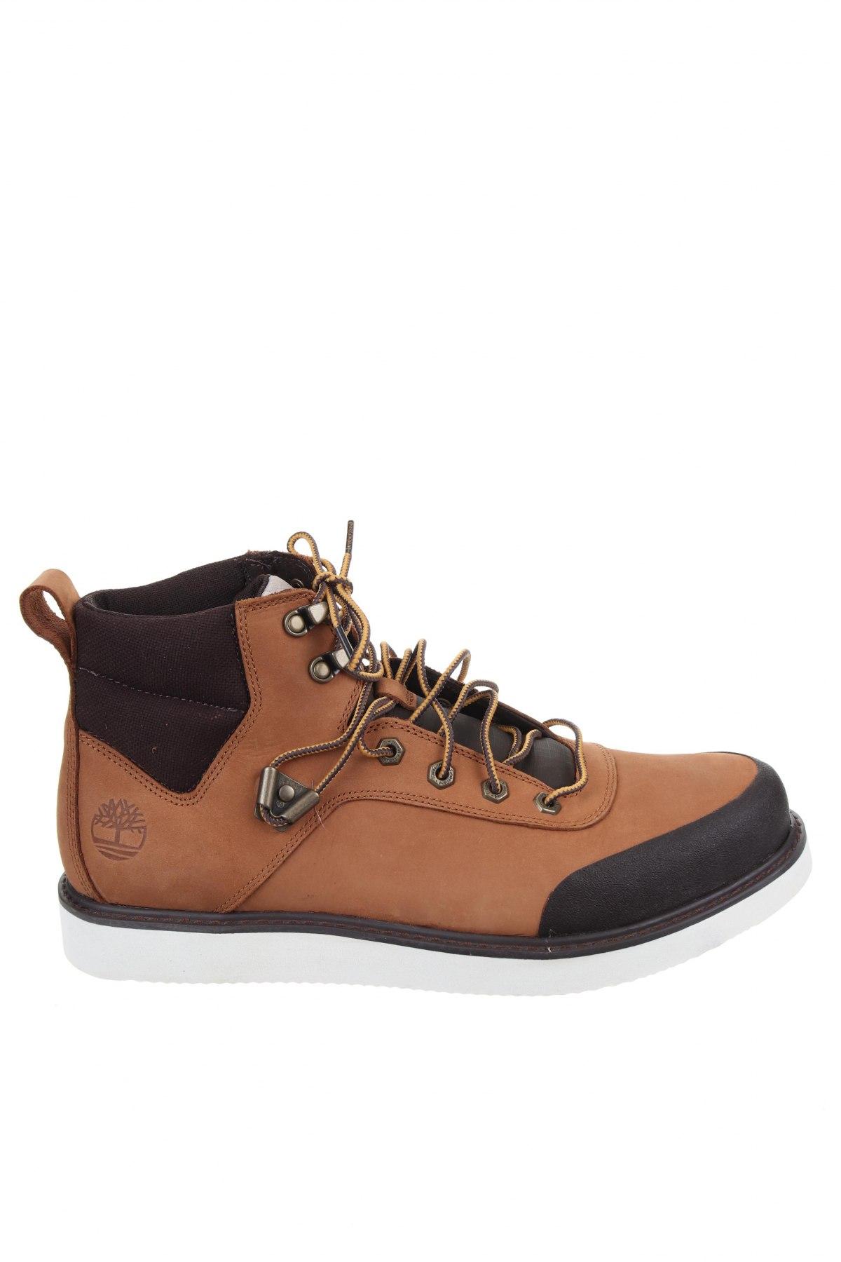 Мъжки обувки Timberland, Размер 45, Цвят Кафяв, Естествена кожа, текстил, Цена 164,25лв.