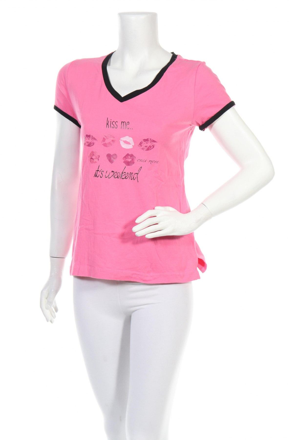 Пижама Vivance, Размер XS, Цвят Розов, Памук, Цена 11,40лв.