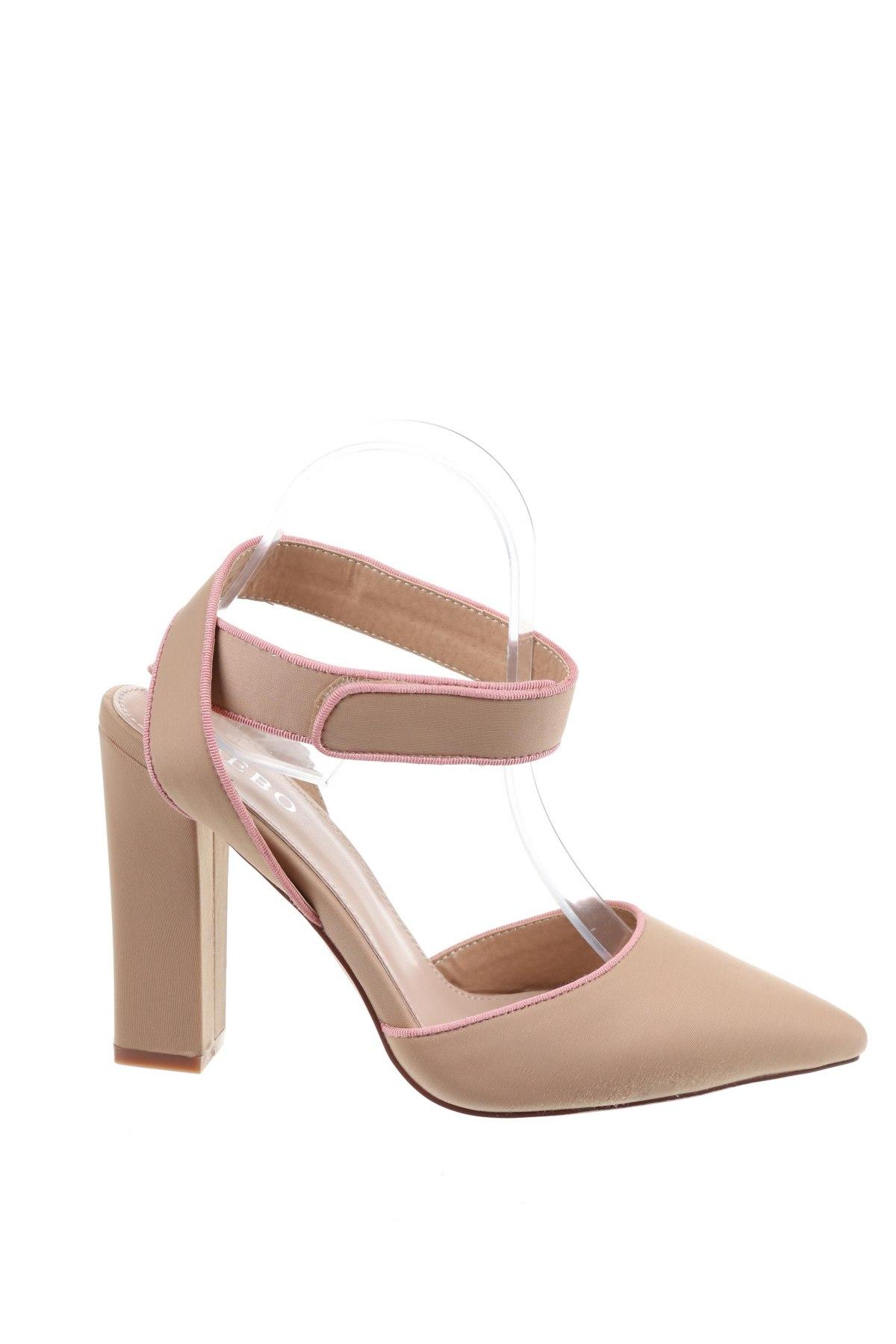 Дамски обувки Bebo, Размер 39, Цвят Бежов, Текстил, Цена 20,46лв.