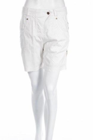 Γυναικείο κοντό παντελόνι Plus Fine, Μέγεθος M, Χρώμα Εκρού, 97% βαμβάκι, 3% ελαστάνη, Τιμή 3,67€