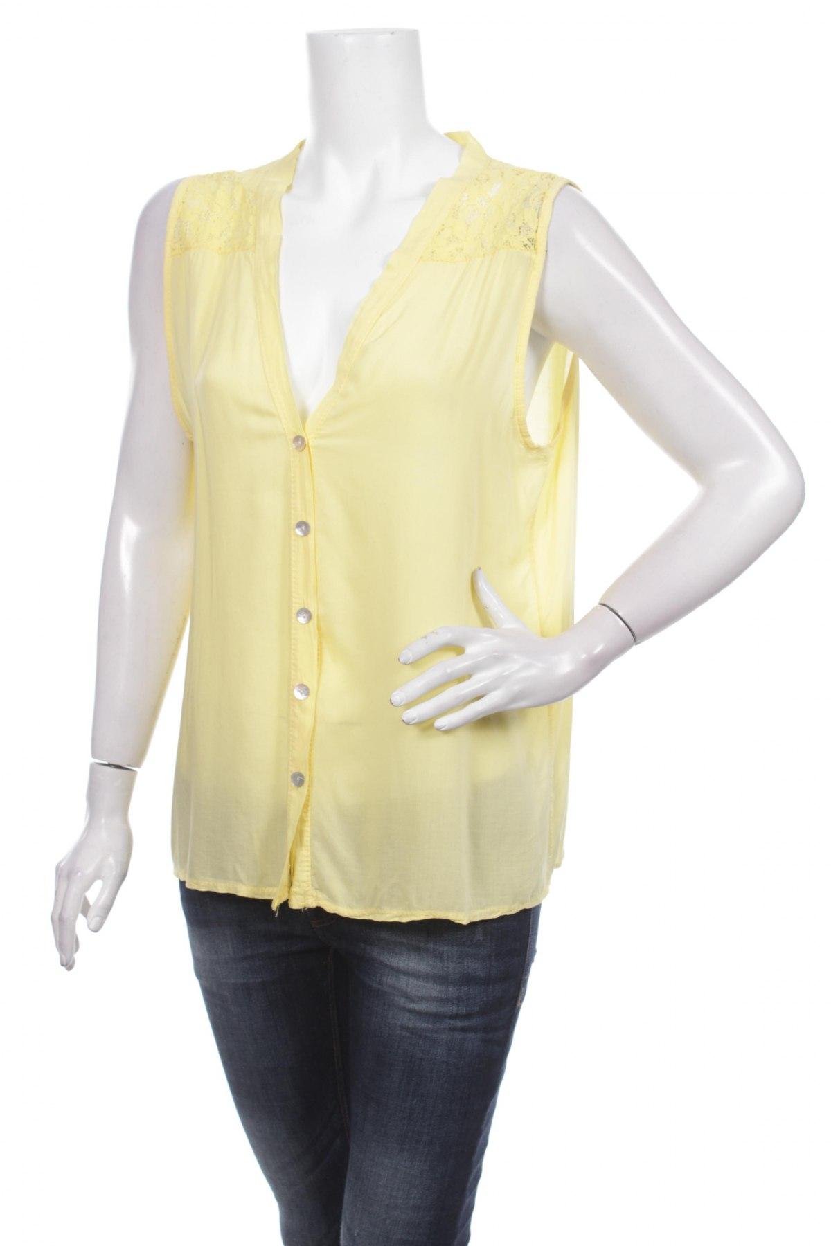 Γυναικείο πουκάμισο Today, Μέγεθος L, Χρώμα Κίτρινο, 100% βισκόζη, Τιμή 9,90€