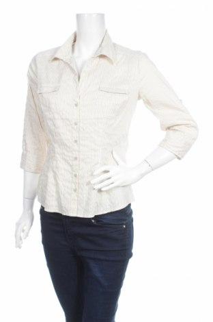 Γυναικείο πουκάμισο H&M, Μέγεθος M, Χρώμα  Μπέζ, 33% βαμβάκι, 41% πολυεστέρας, 23% 1% ελαστάνη, Τιμή 13,61€