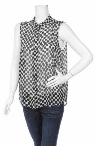 Γυναικείο πουκάμισο H&M, Μέγεθος L, Χρώμα Μαύρο, 100% πολυεστέρας, Τιμή 10,52€