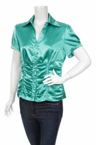 Γυναικείο πουκάμισο John Baner, Μέγεθος L, Χρώμα Πράσινο, Τιμή 14,43€