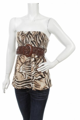Tricou de damă Amisu, Mărime XS, Culoare Multicolor, 92% poliester, 8% elastan, Preț 11,57 Lei