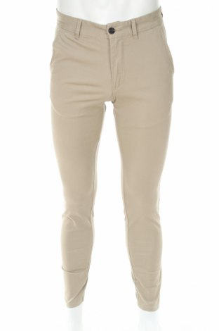 Мъжки панталон Jack & Jones, Размер S, Цвят Бежов, 98% памук, 2% еластан, Цена 55,90лв.