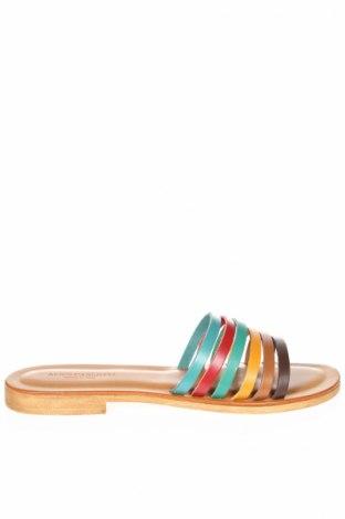 Papuci de casă Alice Carlotti, Mărime 39, Culoare Multicolor, Piele naturală, Preț 113,34 Lei