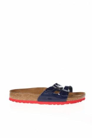 Papuci de casă Birkenstock, Mărime 38, Culoare Albastru, Piele ecologică, Preț 213,87 Lei
