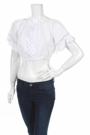 Дамска блуза H&M Divided, Размер M, Цвят Бял, Полиестер, Цена 4,20лв.