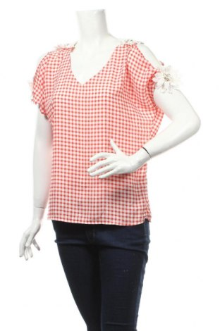 Дамска блуза Quinze Heures Trente, Размер S, Цвят Червен, Полиестер, Цена 4,73лв.