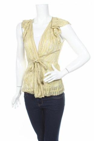 Дамска риза BCBG Max Azria, Размер XS, Цвят Зелен, Коприна, Цена 23,50лв.