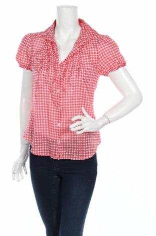 Дамска риза United Colors Of Benetton, Размер XS, Цвят Червен, 100% памук, Цена 16,80лв.