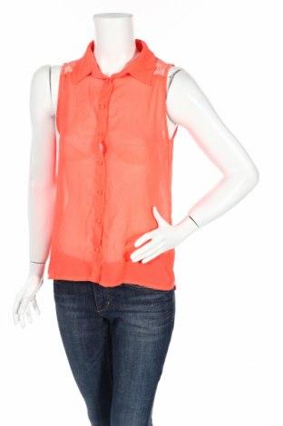 Дамска риза Zebra, Размер XS, Цвят Оранжев, Полиестер, Цена 4,20лв.