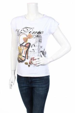 Дамска тениска, Размер M, Цвят Бял, 95% памук, 5% еластан, Цена 11,03лв.