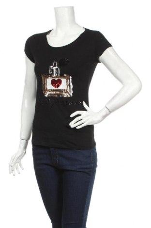 Дамска тениска, Размер M, Цвят Черен, Цена 13,23лв.