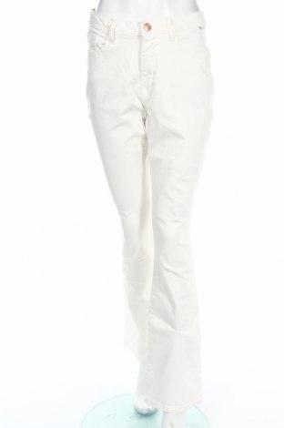 Damskie jeansy H.i.s, Rozmiar XL, Kolor Biały, 98% bawełna, 2% elastyna, Cena 24,86zł