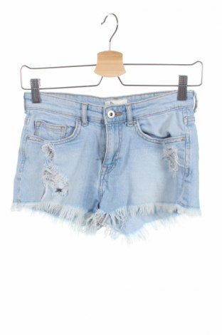 Дамски къс панталон H&M, Размер XXS, Цвят Син, 99% памук, 1% еластан, Цена 18,90лв.