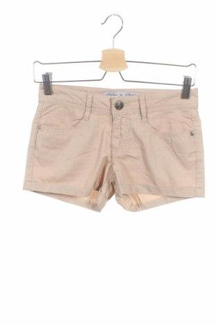 Γυναικείο κοντό παντελόνι Tirdy, Μέγεθος XS, Χρώμα  Μπέζ, Βαμβάκι, Τιμή 2,60€