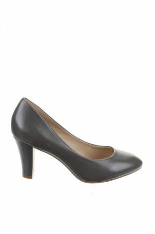 Дамски обувки Buffalo, Размер 37, Цвят Сив, Естествена кожа, Цена 32,70лв.