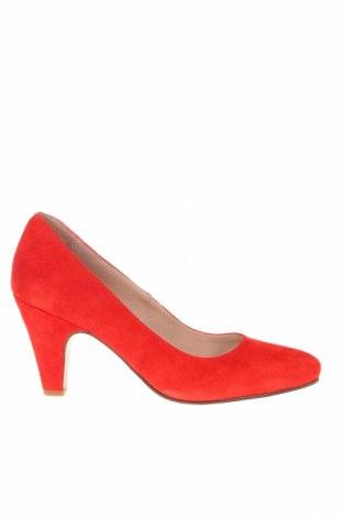 Дамски обувки San Marina, Размер 39, Цвят Червен, Естествен велур, Цена 57,12лв.