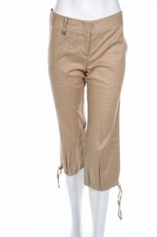 Дамски панталон BCBG Max Azria, Размер XS, Цвят Бежов, 62% вискоза, 35% памук, 3% еластан, Цена 30,75лв.