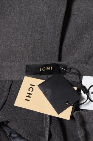 Дамски панталон Ichi, Размер S, Цвят Сив, 63% полиестер, 33% вискоза, 4% еластан, Цена 19,24лв.