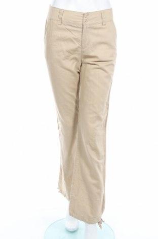 Дамски панталон Teddy's, Размер S, Цвят Бежов, 55% лен, 45% памук, Цена 6,01лв.