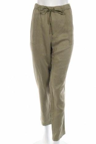 Pantaloni de femei Violeta by Mango, Mărime L, Culoare Verde, 76% lyocell, 19% in, 5% viscoză, Preț 60,39 Lei