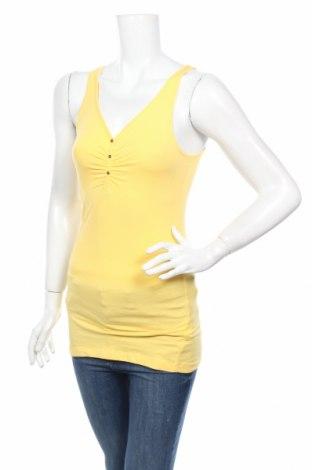 Дамски потник Yes Or No, Размер S, Цвят Жълт, 95% памук, 5% еластан, Цена 4,73лв.