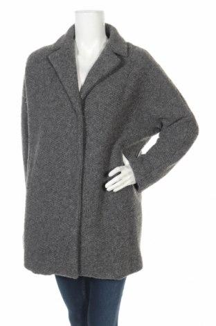 Дамско палто Bomboogie, Размер L, Цвят Сив, 70% полиестер, 25% вълна, 5% други тъкани, Цена 41,59лв.