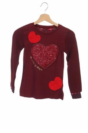 Bluză de copii Desigual, Mărime 8-9y/ 134-140 cm, Culoare Roșu, 99% bumbac, 1% elastan, Preț 69,87 Lei