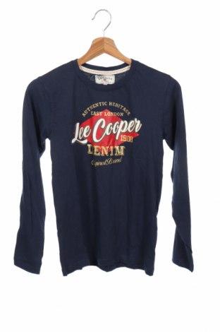 Bluză de copii Lee Cooper, Mărime 14-15y/ 168-170 cm, Culoare Albastru, Bumbac, Preț 49,74 Lei