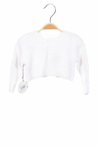 Детска жилетка Absorba, Размер 6-9m/ 68-74 см, Цвят Бял, 100% памук, Цена 20,67лв.