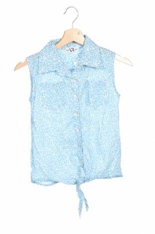 Детска риза, Размер 12-13y/ 158-164 см, Цвят Син, 50% памук, 50% еластан, Цена 5,88лв.