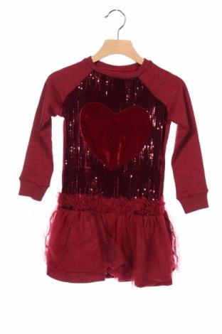Gyerek ruha Desigual, Méret 5-6y / 116-122 cm, Szín Piros, 91% pamut, 8% poliészter, 1% elasztán, Ár 6249 Ft