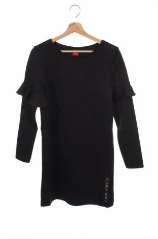Detské šaty  S.Oliver, Veľkosť 14-15y/ 168-170 cm, Farba Čierna, 70% polyester, 25% viskóza, 5% elastan, Cena  10,10€
