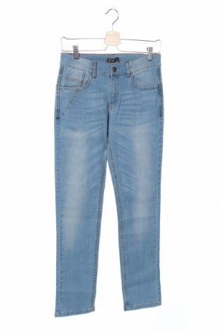 Детски дънки Grain De Ble, Размер 14-15y/ 168-170 см, Цвят Син, 99% памук, 1% еластан, Цена 5,40лв.