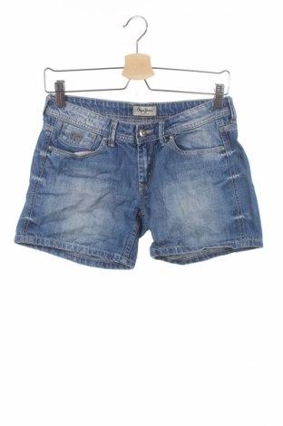 Παιδικό κοντό παντελόνι Pepe Jeans, Μέγεθος 13-14y/ 164-168 εκ., Χρώμα Μπλέ, Βαμβάκι, Τιμή 10,84€