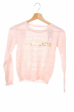 Детски пуловер Complices, Размер 9-10y/ 140-146 см, Цвят Розов, Полиестер, Цена 24,36лв.