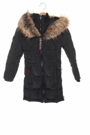 Детско яке Geographical Norway, Размер 7-8y/ 128-134 см, Цвят Черен, Полиестер, Цена 149,00лв.