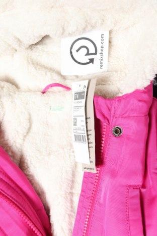 Детско яке United Colors Of Benetton, Размер 9-12m/ 74-80 см, Цвят Розов, Полиестер, Цена 59,84лв.