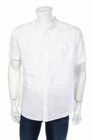 Мъжка риза Angelo Litrico, Размер L, Цвят Бял, Лен, Цена 11,34лв.
