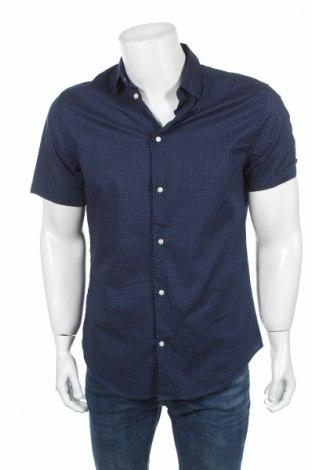 Мъжка риза H&M, Размер M, Цвят Син, Памук, Цена 12,60лв.
