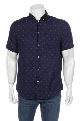 Мъжка риза H&M, Размер M, Цвят Син, Памук, Цена 15,75лв.
