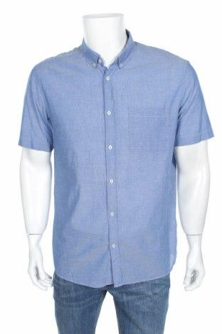 Мъжка риза H&M, Размер L, Цвят Син, Памук, Цена 9,45лв.