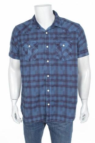 Мъжка риза Petrol Industries, Размер XL, Цвят Син, Памук, Цена 15,12лв.