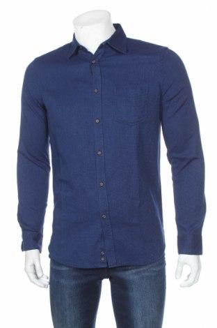 Ανδρικό πουκάμισο Sisley, Μέγεθος M, Χρώμα Μπλέ, Βαμβάκι, Τιμή 14,25€